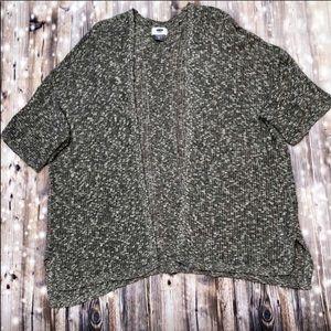 Old Navy gray short sleeve cardigan sweater